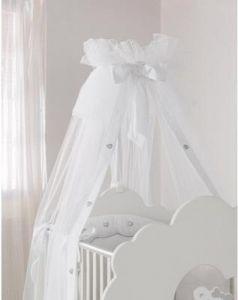 Балдахин на кроватку Baby Expert Serenata (белый)