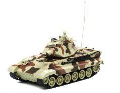 Танк на радиоуправлении Пламенный мотор King Tiger (Германия) 1:28 пластик от 4 лет камуфляж 87554