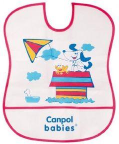 Нагрудник Canpol пластиковый мягкий 2/919 красный