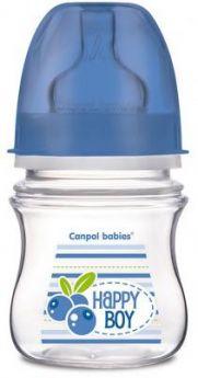Бутылочка для кормления Canpol Фрукты 120 мл с 3 месяцев синий 35/212