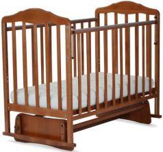 Кроватка с маятником СКВ Березка (орех/124007)