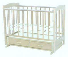 Кроватка с маятником Ведрус Кира 4 (белая)