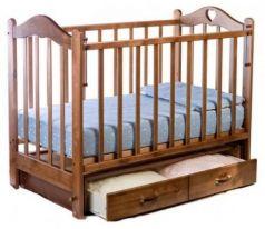 Кроватка с маятником Ведрус Лана 3 (вишня)