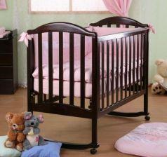 Кроватка-качалка Лель Люкс АБ 17.0 (венге)