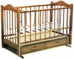 Кроватка с маятником Ведрус Кира 4 (орех)