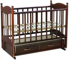 Кроватка с маятником Ведрус Эля (орех)