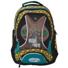 Школьный рюкзак с рельефной спинкой Action! DISCOVERY желтый коричневый  DV-AB11050/1