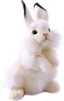 Мягкая игрушка кролик Hansa Белый кролик искусственный мех синтепон белый 32 см 3313