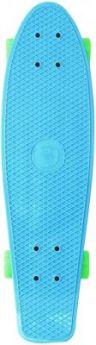 "Скейтборд Y-SCOO Fishskateboard 22"" RT винил 56,6х15 с сумкой BLUE/green 401-B"