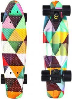 "Скейтборд Y-SCOO Fishskateboard Print 22"" RT винил 56,6х15 с сумкой Triddent 401G-T"