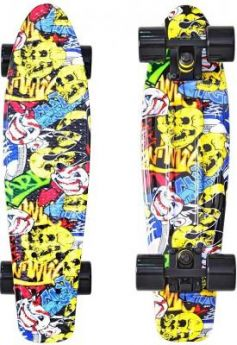 "Скейтборд Y-SCOO Fishskateboard Print 22"" RT винил 56,6х15 с сумкой Cartoon 401G-C"