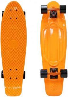 "Скейтборд Y-SCOO Fishskateboard Print 22"" RT винил 56,6х15 с сумкой ORANGE/black 401-O"