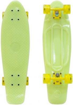 "Скейтборд Y-SCOO Big Fishskateboard GLOW 27"" RT винил 68,6х19 с сумкой YELLOW/yellow 402E-Y"