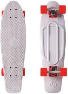 "Скейтборд Y-SCOO Big Fishskateboard 27"" RT винил 68,6х19 с сумкой GREY/red 402-Gr"
