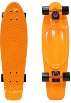 "Скейтборд Y-SCOO Big Fishskateboard 27"" RT винил 68,6х19 с сумкой ORANGE/black 402-O"