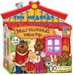 """Магнитный театр Vladi toys """"Три медведя"""" 10 предметов VT3206-10"""