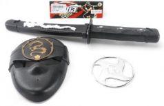 """Оружие Shantou Gepai """"Ниндзя"""" черный серебристый 3 предмета 333-43"""