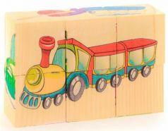 """Кубики Русские деревянные игрушки """"Транспорт"""" 6 шт. Д488а"""