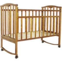 Кроватка-качалка Золушка-1 (орех)
