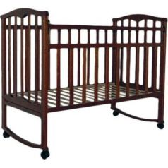 Кроватка-качалка Золушка-1 (шоколад)