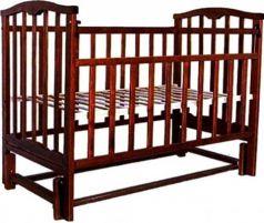 Кроватка с маятником Золушка-5 (шоколад)
