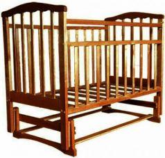 Кроватка с маятником Золушка-3 (орех)