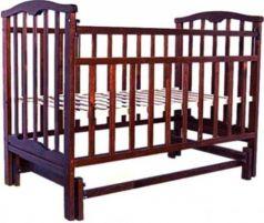 Кроватка с маятником Золушка-3 (вишня)