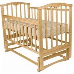 Кроватка с маятником Золушка-5 (светлый)