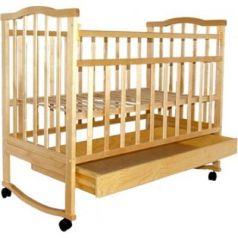 Кроватка-качалка Золушка-2 (светлый)