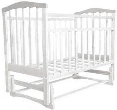 Кроватка с маятником Золушка-3 (белый)