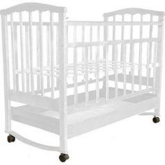 Кроватка-качалка Золушка-2 (белый)