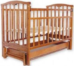 Кроватка с маятником Золушка-6 (орех)