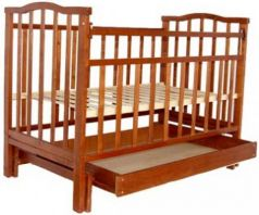 Кроватка с маятником Золушка-4 (вишня)