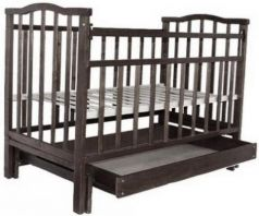 Кроватка с маятником Золушка-4 (шоколад)