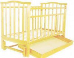 Кроватка с маятником Золушка-4 (слоновая кость)
