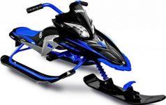 Снегокат Snow Moto Apex SNOW BIKE Titanium black/blue до 40 кг синий пластик металл YM13001