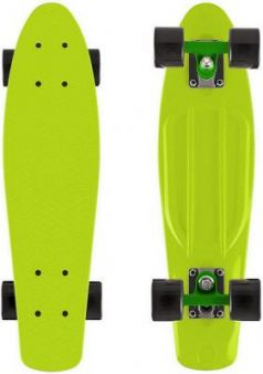 "Скейтборд Y-SCOO Fishskateboard 22"" винил 56,6х15 с сумкой LIME/black 401-L"