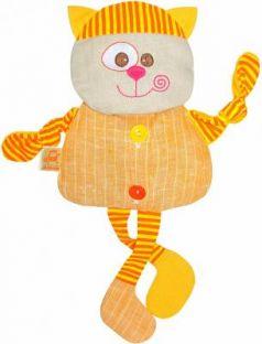 Мягкая игрушка-грелка кот МЯКИШИ Доктор Мякиш ткань оранжевый 35 см 232