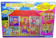 Дом для кукол Shantou Gepai My lovely Villa 128 предметов