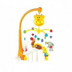 """Мультифункциональный мобиль Жирафики """"Жирафик"""": таймер выключения, 18 мелодий, съемные игрушки-трещотки 939402"""