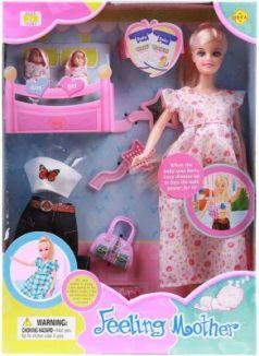 Кукла Defa Lucy Будущая мама с аксексс., в ассорт., кор. 29 см  8009