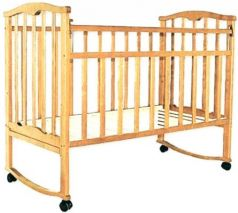 Кроватка-качалка Золушка-1 (светлый)