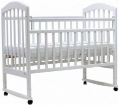 Кроватка-качалка Топотушки Лира-2 (арт. 23/белый)