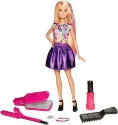 Кукла Mattel Barbie Игра с модой Цветные локоны DWK49