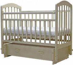 Кроватка с маятником Топотушки Лира-7 (арт. 30/слоновая кость)