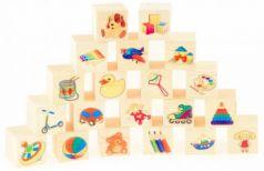 """Кубики Русские деревянные игрушки """"Игрушки"""" от 3 лет 20 шт"""
