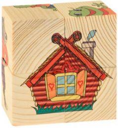 Кубики Русские деревянные игрушки Теремок от 1 года 4 шт 505