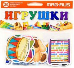 """Магнитная игра развивающая MAG-RUS """"Игрушки""""  NF1012"""