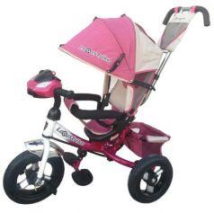Велосипед трехколёсный Lexus Trike трёхколесный 12*/10* бело-розовый