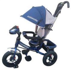 Велосипед трехколёсный Lexus Trike трёхколесный 12*/10* темно-синий